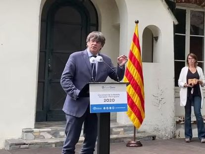 Former Catalan premier Carles Puigdemont, pictured earlier this month in the south of France.