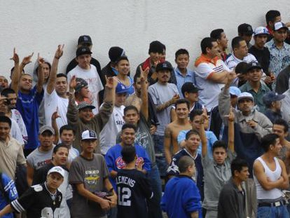 Inmates seen inside a Guatemalan prison.