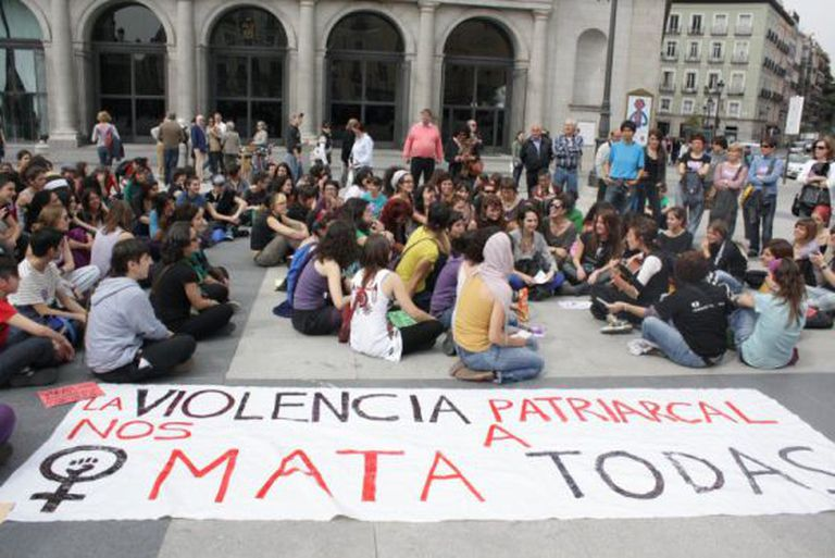 A protest against gender violence affecting women.