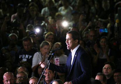 Juan Guaidó at an event this week in Caracas.