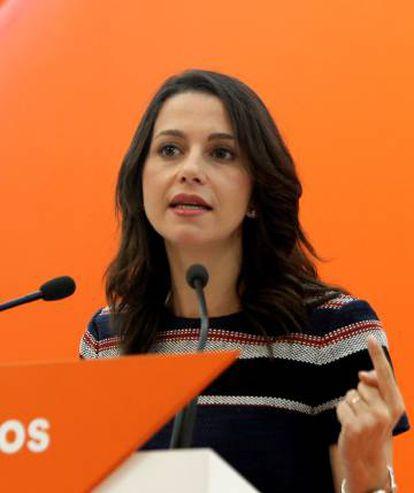 Ciudadanos leader in Catalonia Inés Arrimadas.