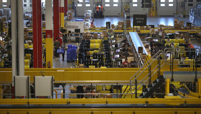 One of Amazon's warehouses in Madrid.