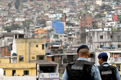 UPP police officers at the Rocinha 'favela.'