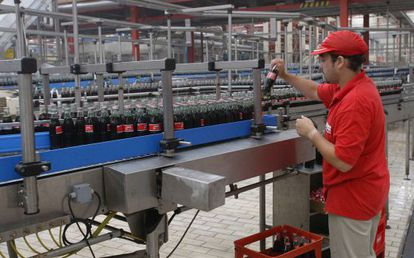 A Coca-Cola bottling plant in Fuenlabrada, outside Madrid.