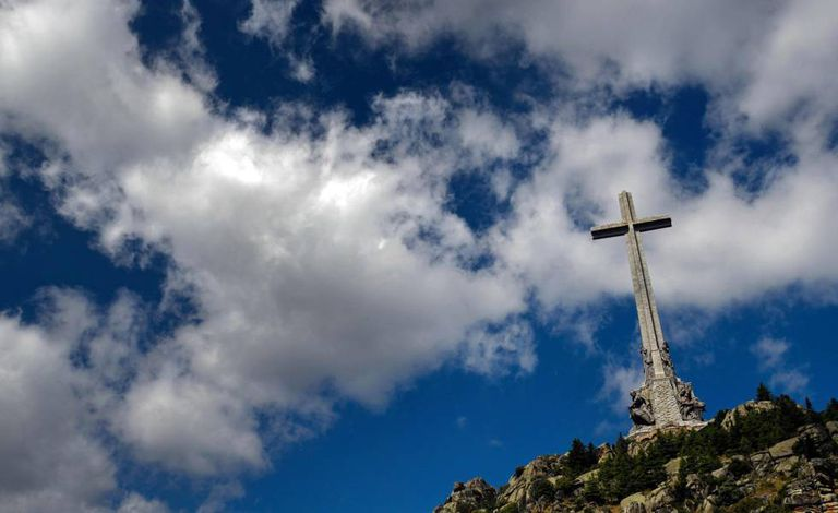 The cross at the Valley of the Fallen, where Franco is buried.