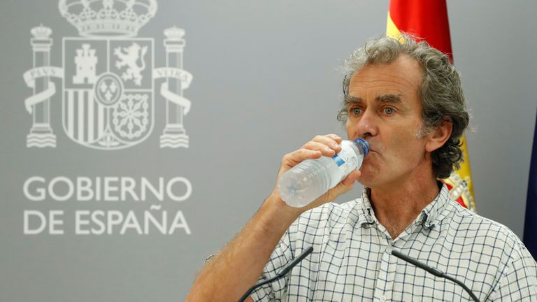 Fernando Simón at Thursday's press conference.