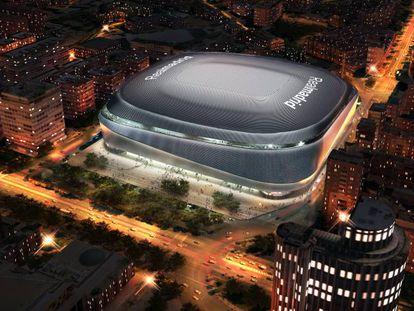 Artist's impression of the new-look Santiago Bernabéu stadium.