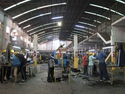 The workshop at Olmos.