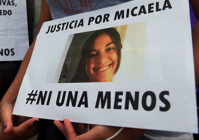 A march on Saturday to protest Micaela's death.