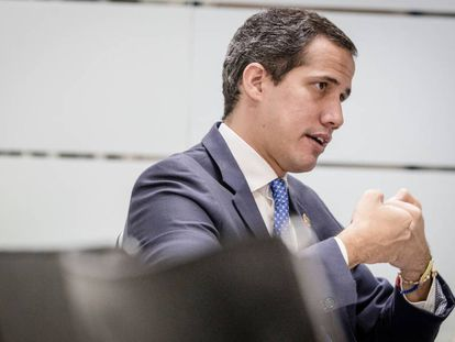 Juan Guaidó, this Saturday in his office in Caracas.