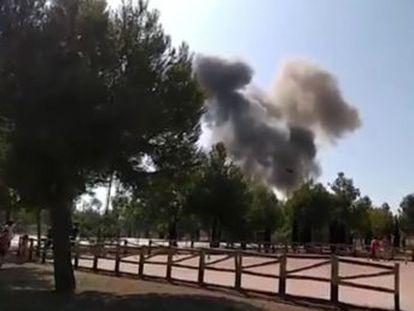 The pilot was unable to eject from the aircraft in time and was killed, military sources said