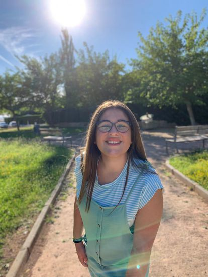 Camino Asensio is looking forward to the start of classes at La Inmaculada school in Alcañiz (Toledo).