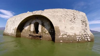 The Dominican church that has resurfaced because of the drought.