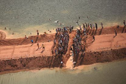 Amazonian Indians protest against the plans for the Belo Monte dam.