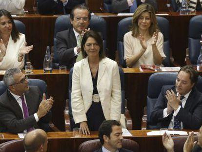 New Madrid regional assembly speaker María Paloma Adrados.
