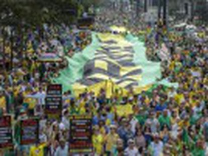 Thousands take to the streets of large cities once again as Rousseff's approval rating stands at eight percent
