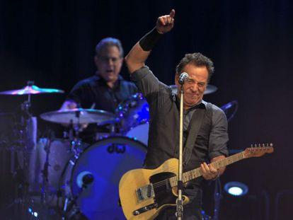 Bruce Springsteen on stage in Seville.
