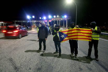 CDR members protest in Catalonia.