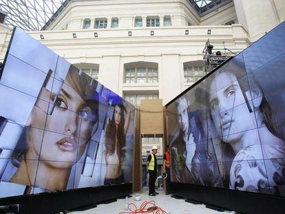 Part of the exhibition at Madrid's Palacio de Cibeles.