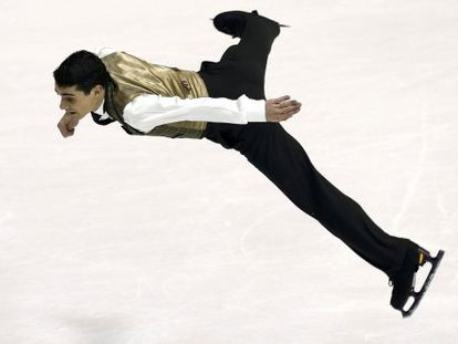 Javier Fernández of Spain performs at the Figure Skating European Championships in Zagreb, Croatia.