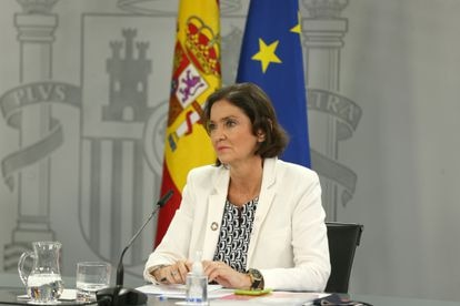 Industry, Commerce and Tourism Minister Reyes Maroto during a press conference on Tuesday.