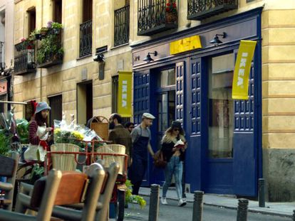Work is already underway on the Ikea pop-up store in Madrid.