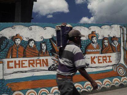 A mural in Cherán, in Mexico's Michoacán state.