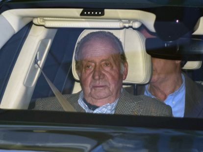 Emeritus king, Juan Carlos I, in January.