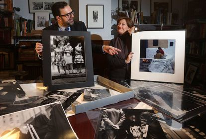 The collectors: Adolfo Autric and Charo Tamayo at home in Madrid.