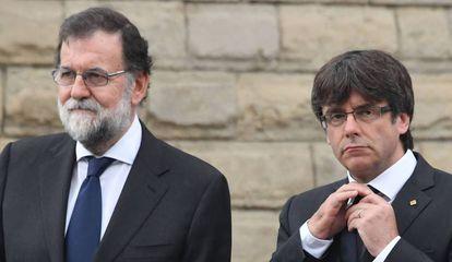 Spanish PM Mariano Rajoy and Catalan premier Carles Puigdemont.
