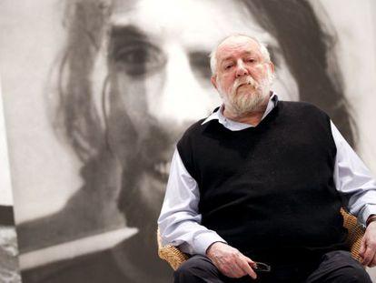 Artist and former figure skater Darío Villalba in his Madrid studio.