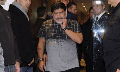 Diego Maradona did not reach a settlement with his former wife.