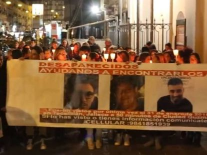 A protest in Naples demanding the return of the missing men.