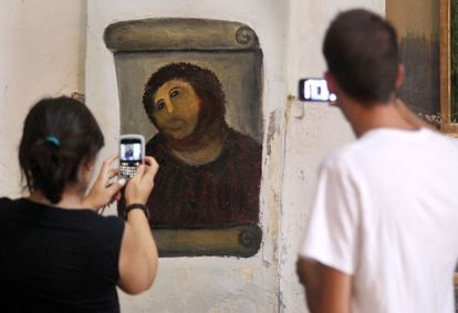 The Ecce Homo has become a tourist attraction.