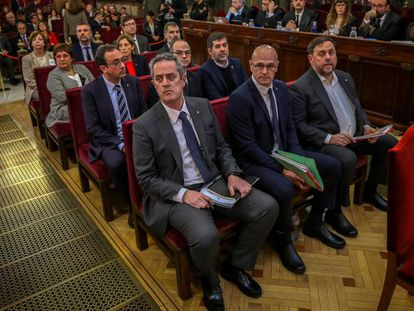 The 12 separatist leaders during the Supreme Court trial.