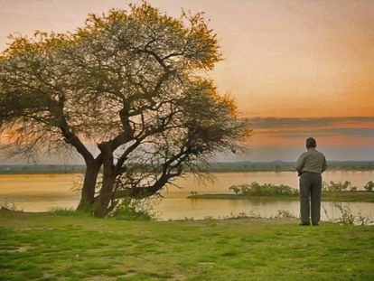 Blas Jaime, on the banks of the Uruguay River.