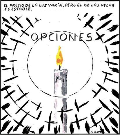 """""""Options: The price of electricity may fluctuate, but the cost of candles is stable."""""""