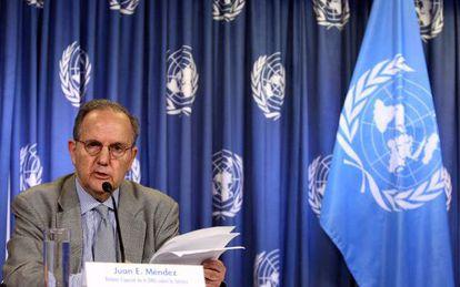 UN Special Rapporteur Juan Méndez in Mexico City.