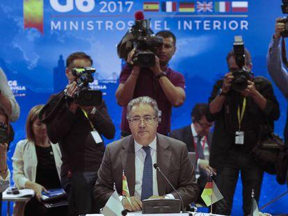 Interior Minister Juan Ignacio Zoido at the G6 meeting in Seville on Monday.