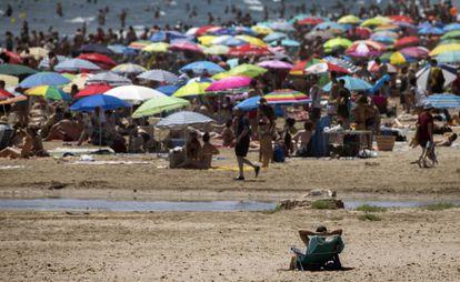 Malvarrosa beach in Valencia on Saturday.