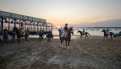 Summer beach horse races in Sanlúcar de Barrameda.