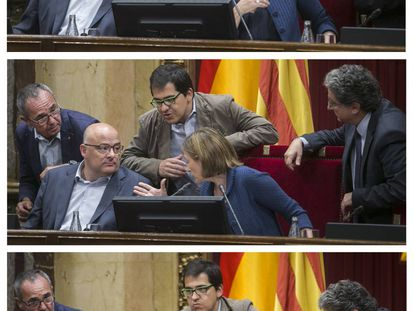 Wednesday's debate in the Catalan parliament.