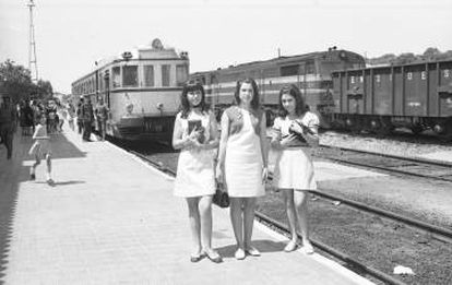 Monfragüe station in the 1960s, when it was still called Palazuelo-Empalme.