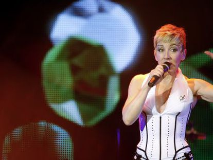 Ana Torroja, in concert two years ago in Madrid.