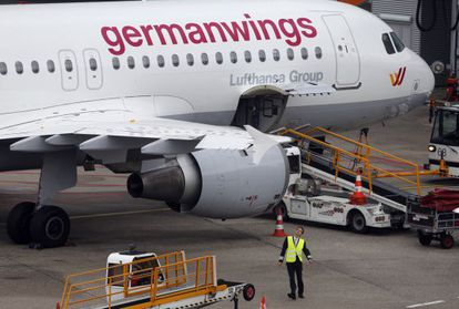 A file photo of a Germanwings Airbus 320, similar to the one that crashed in the Alps on Tuesday morning.