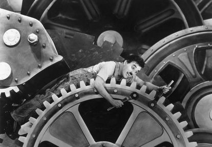 In the film 'Modern Times' (1936), Charles Chaplin warned about the dangers of machines in the workplace.