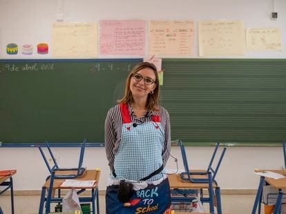Isabel Solís, a 36-year-old teacher in Seville who received the first AstraZeneca dose in March.
