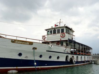 Al Capone's former smuggling vessel is now used by tourists at the Panama Canal..