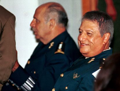 Mario Arturo Acosta Chaparro at a trial in 2002, where he was judged for his involvement with drug trafficking.