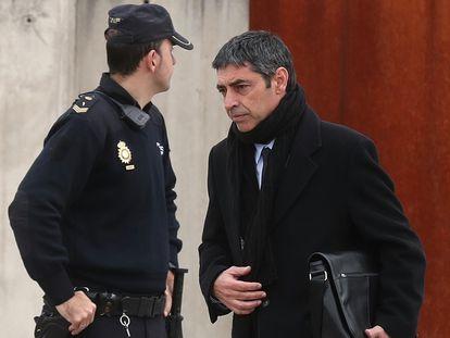 Former chief of Catalan police Josep Lluis Trapero at the Audiencia Nacional in San Fernando de Henares (Madrid).